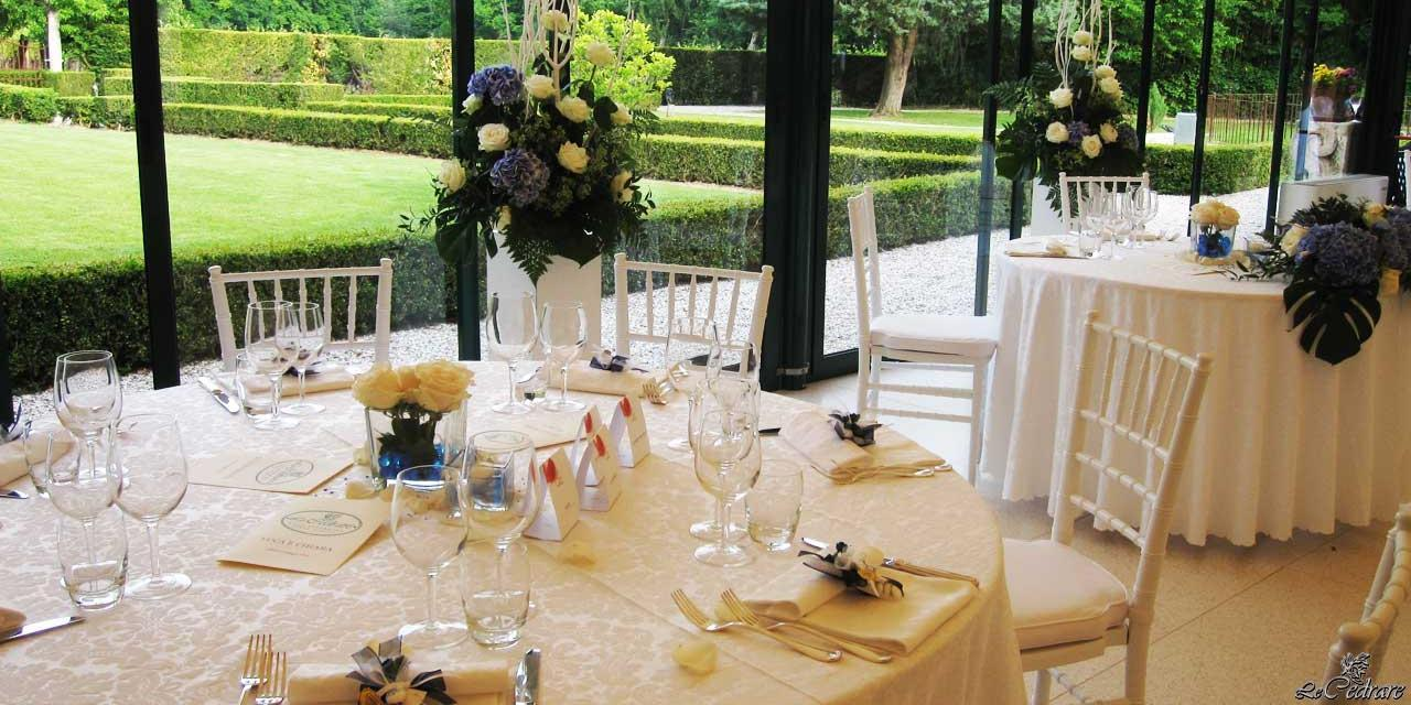 Inside room with windows overlooking the garden for special events, corporate dinners and large groups