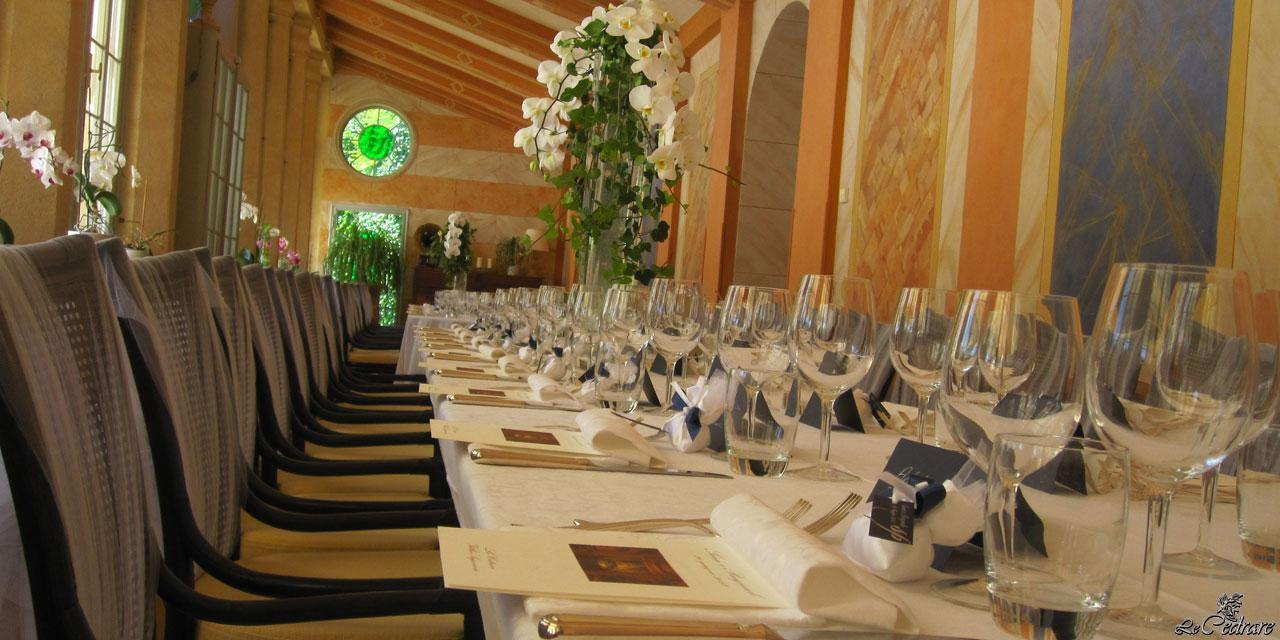 Prepared tables for wedding event
