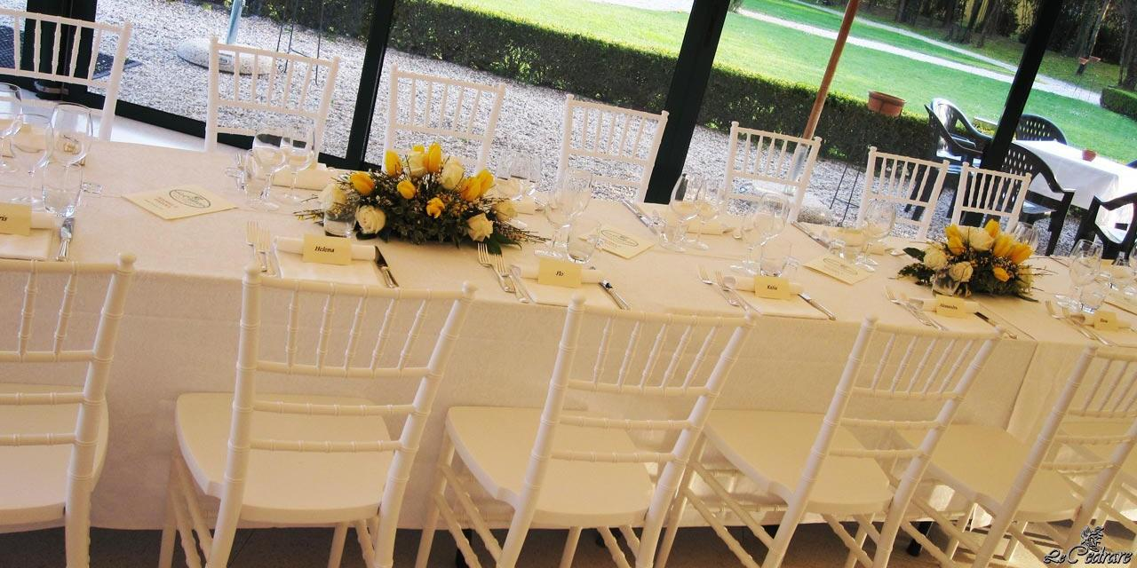 Table in the room with windows for marriage
