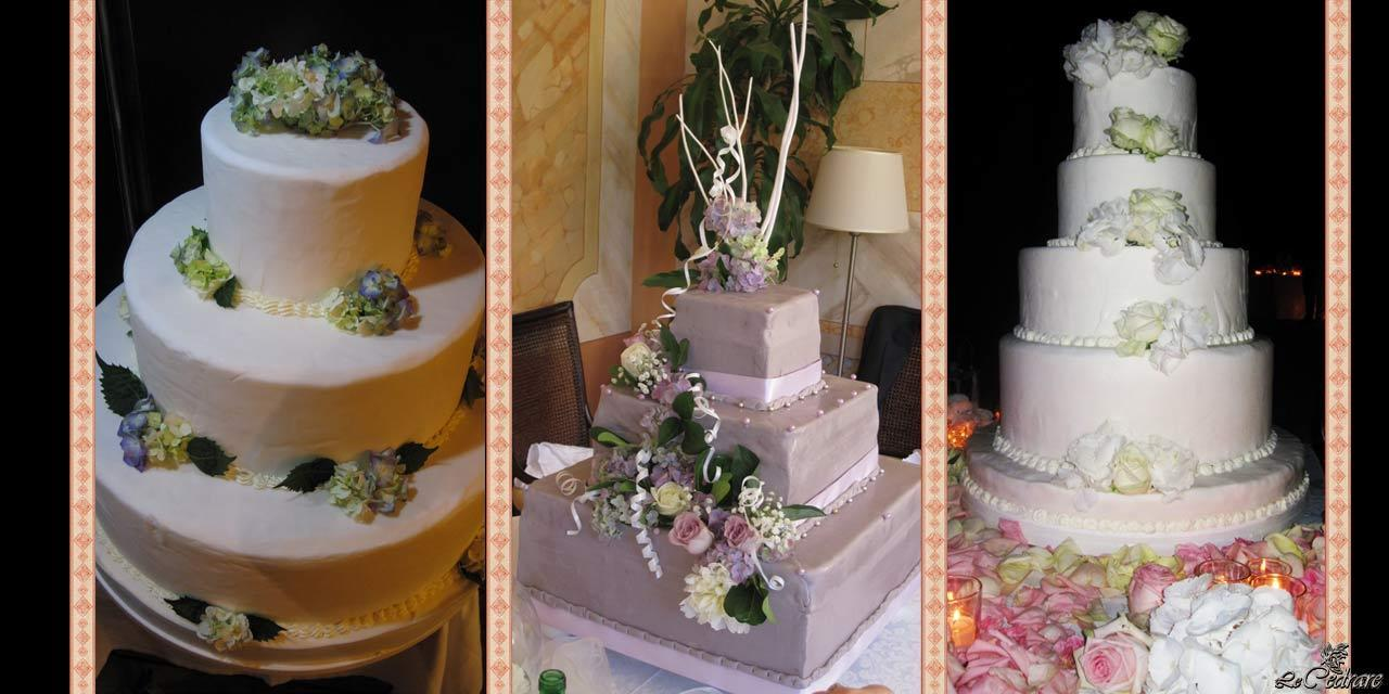Wedding cakes prepared by chef Sagramoso