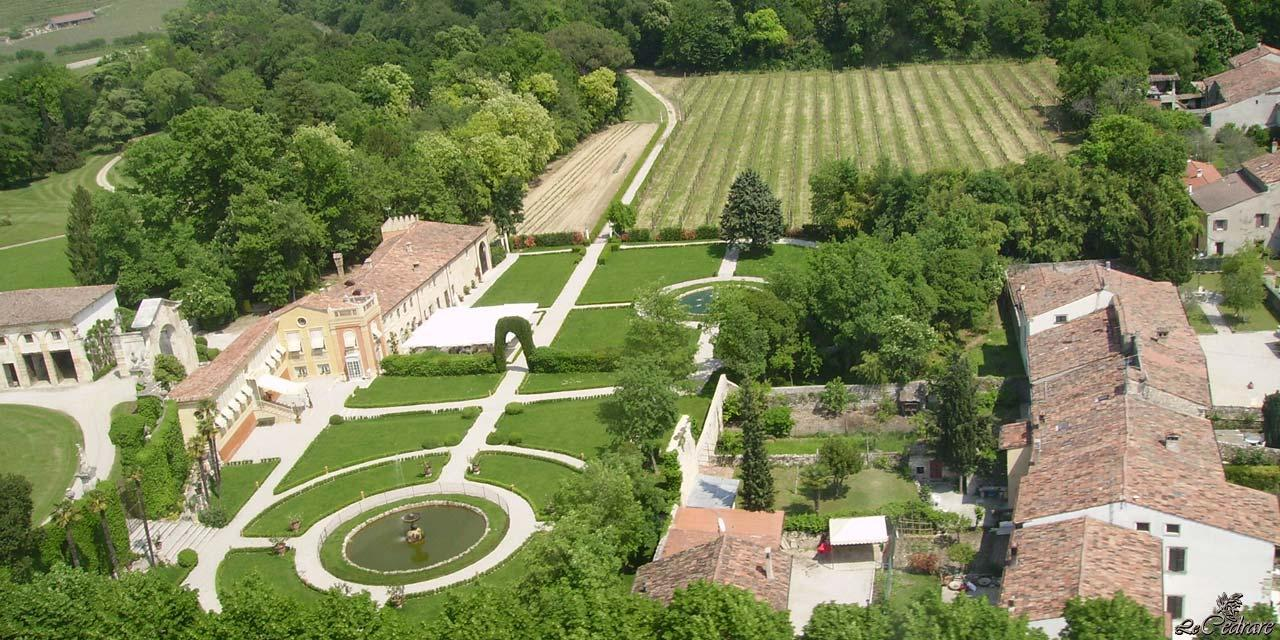 Aerial view of the restaurant in Verona