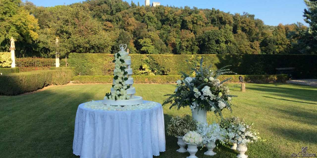 Wedding in villa with Castle of Illasi