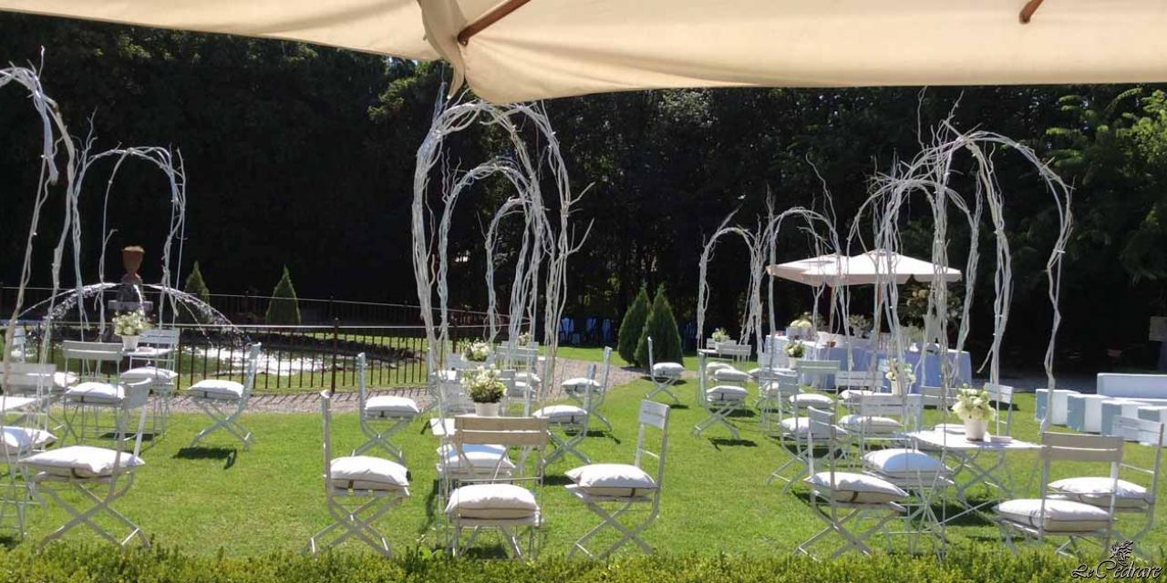 Outdoor wedding setup ini Verona
