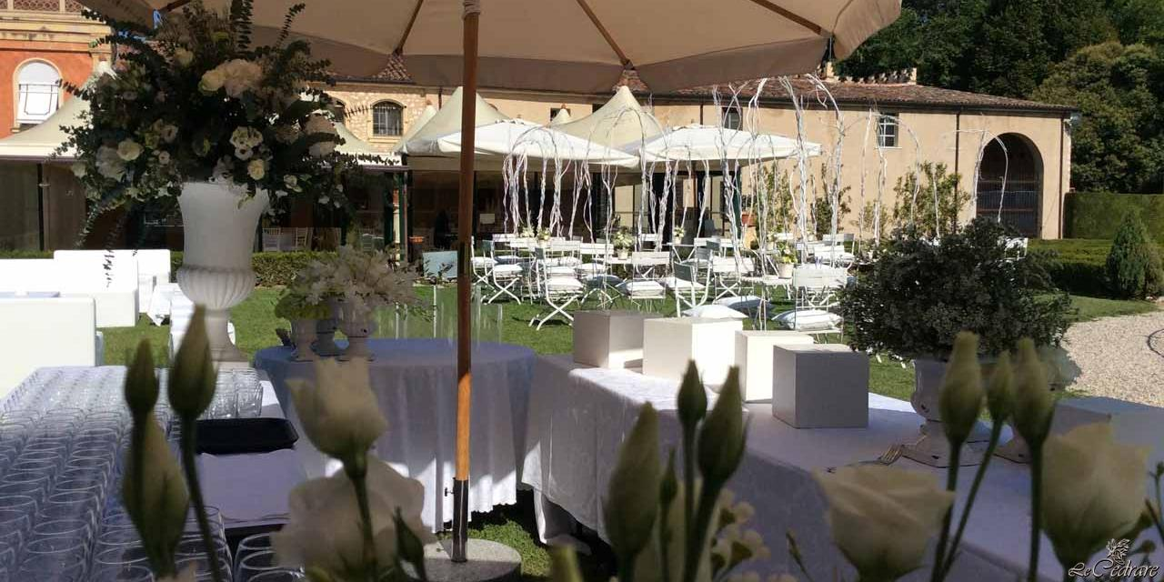 Welcoming the guests to the wedding with aperitif and buffet