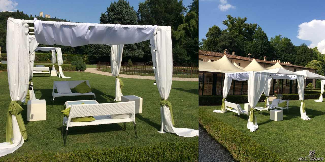 Idea for staging marriage with canopy structure