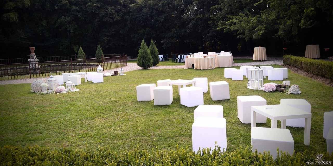 Restaurant and park for weddings in Verona