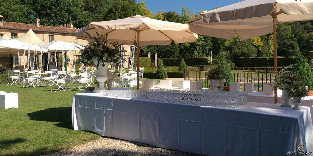 Buffet matrimonio all'aperto a Verona