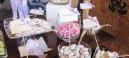 Sugared almonds for wedding at restaurant