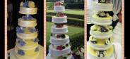 Wedding cakes at the restaurant