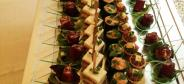 Appetizers and finger foods for special event at the restaurant