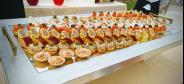 Wedding appetizer at the restaurant for groups